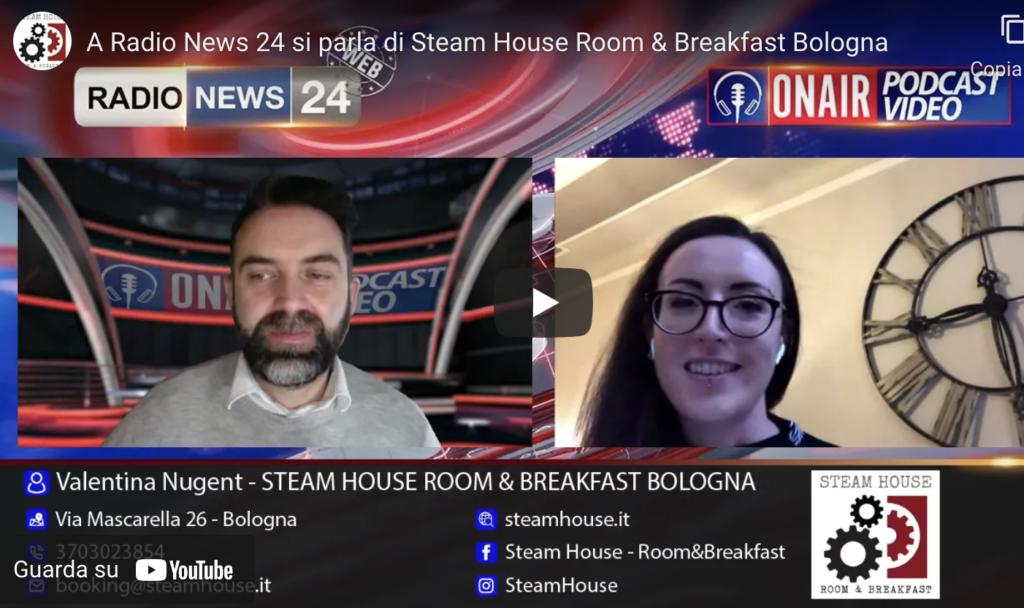 A Radio News 24 si parla della Steam House